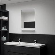 Wall Mirror with Shelf 50 x 60cm Tempered Glass - Mirror