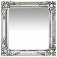 Wall Mirror Baroque Style 50 x 50cm Silver