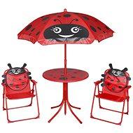 Zahradní nábytek 3dílný dětský zahradní bistro set se slunečníkem červený 41842 41842