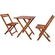 3dílný skládací bistro set masivní akáciové dřevo 44015 44015 - Zahradní nábytek