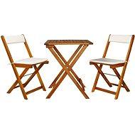 3dílný skládací bistro set s poduškami masivní akáciové dřevo 44014 44014 - Zahradní nábytek