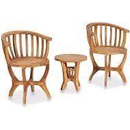 Zahradní nábytek 3dílný zahradní bistro set masivní teakové dřevo 49383 49383