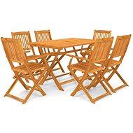 7dílný skládací zahradní jídelní set masivní akáciové dřevo 43379 43379 - Zahradní nábytek