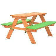 Dětský piknikový stůl s lavičkami 89 x 79 x 50 cm masivní jedle 91793 91793 - Zahradní nábytek