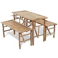 Pivní set stůl se 2 lavicemi 100 cm bambusový 41502 41502 - Zahradní nábytek