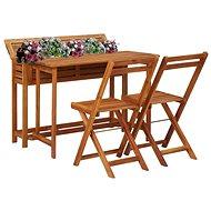 Zahradní stolek s truhlíkem a 2 bistro židlemi masivní akácie 45910 45910 - Zahradní nábytek