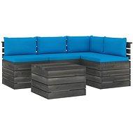5dílná zahradní sedací souprava z palet + podušky borové dřevo 3061831 - Zahradní nábytek