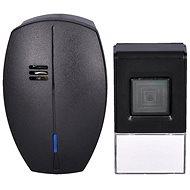 Solight bezdrátový zvonek, do zásuvky, 120m, černý, learning code (1L56B) - Zvonek