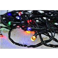 LED venkovní vánoční řetěz, 50 LED, 5m, přívod 3m, 8 funkcí, časovač, IP44, vícebarevný