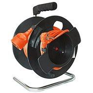 Solight Drum Extension Lead, 1 Socket, 25m, Orange Cable, 3x 1,5mm²