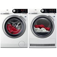AEG ProSteam L7FBE48SC + AEG AbsoluteCare T8DBE68SC - Washer and dryer set