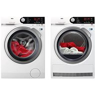 AEG ProSteam L7FBE68SC + AEG AbsoluteCare T8DBE48SC - Washer and dryer set