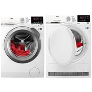 AEG ProSense L6FBG48SC + AEG AbsoluteCare T8DBG47WC - Washer and dryer set
