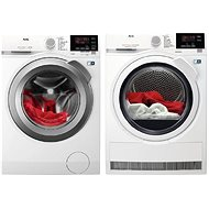 AEG ProSense L6FBG48SC + AEG AbsoluteCare® T8DBG48WC - Washer and dryer set