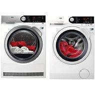 AEG L7FEE48WC + AEG T8DBC49SC - Washer and dryer set
