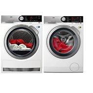 AEG SoftWater L9FEC49SC + AEG T8DBC49SC - Washer and dryer set