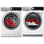 AEG SoftWater L9FEC49SC + AEG AbsoluteCare T8DEC68SC - Washer and dryer set