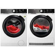 AEG SoftWater L9FBB49SC BlackEdition + AEG FiberPro T9DBB89BC 3DScan BlackEdition - Washer and dryer set