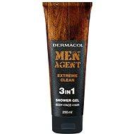 DERMACOL Men Agent 3v1 Extreme clean  250 ml - Pánský sprchový gel