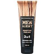 DERMACOL Men Agent 3v1 Sensitive feeling 250 ml - Pánský sprchový gel