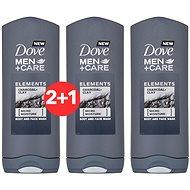 DOVE Men+Care Charcoal+ Clay Shower Gel 400 ml 2+1 - Pánský sprchový gel