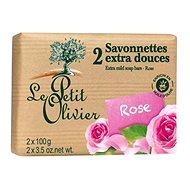 LE PETIT OLIVIER Extra Mild Soap Bars - Rose 2× 100 g - Tuhé mýdlo