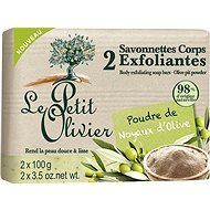 LE PETIT OLIVIER Exfoliating Body Soaps with Olive Pit Powder 2× 100 g