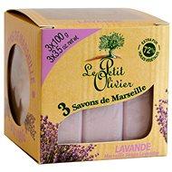 LE PETIT OLIVIER Marseille Soaps Lavender 3× 100 g - Tuhé mýdlo