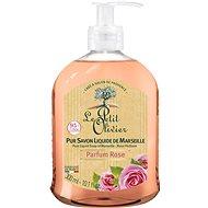LE PETIT OLIVIER Pure Liquid Soap of Marseille - Rose Perfume 300 ml - Tekuté mýdlo
