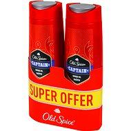 OLD SPICE Captain Shower Gel 2-in1 pack 2× 400ml