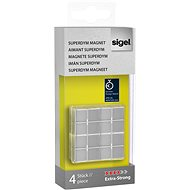 SIGEL Superdym stříbrný 4ks - kostka - Magnet