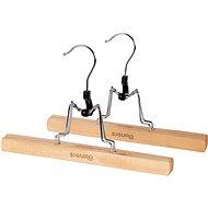Ramínko Siguro Essentials dřevěné na kalhoty, natural, 2 ks