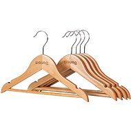 Ramínko Siguro Kids Essentials dřevěné, natural, 5 ks