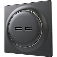 Fibaro Walli USB zásuvka matný antracit - Zásuvka