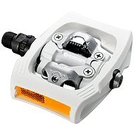 Shimano MTB PD-T400 CLICK'R zarážky SM-SH56 white - Pedály