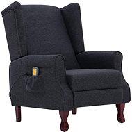 SHUMEE Masážní polohovací křeslo tmavě šedé textil 282208 - Masážní křeslo