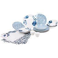 SIAKI Jídelní sada 24 ks BLUE ALL (18 talířů, 4 prostírání, sůl/pepř) - Jídelní sada