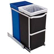 Simplehuman Vestavný koš na tříděný odpad 20/15l, lesklá ocel, plastový kbelík - Odpadkový koš