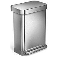 Simplehuman Pedálový koš 55l, matná ocel, FPP, kapsa na sáčky - Odpadkový koš