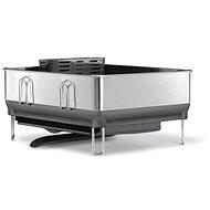 Simplehuman Odkapávač na nádobí, kompaktní ocelový rám, matná ocel/šedý plast, FPP - Odkapávač na nádobí