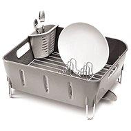 Simplehuman Odkapávač na nádobí Compact, šedý plast - Odkapávač na nádobí