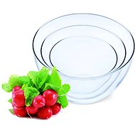 SIMAX Set of Glass Bowls 3pcs, Volume of 0.75l, 1.5l and 2.5l