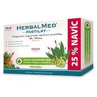 HerbalMed past. Dr.Weiss Jitroc+mateř+lípa+C 24+6 - Bylinné pastilky