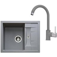 SINKS CRYSTAL 615 Titanium + MIX 35 - 72 Titanium - Set