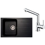 SINKS CLASSIC 740 Metalblack + MIX 350 P lesklá - Set