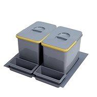 SINKS PRACTIKO 600 2x12 l + 2x miska - Odpadkový koš