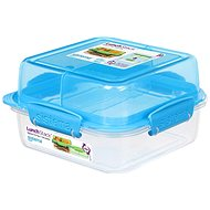 Sistema Lunch Stack Square To Go Blue Online 1.24L  (4) - Dóza