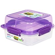 Sistema Lunch Stack Square To Go Purple Online 1.24L  (4) - Dóza