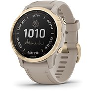 Garmin Fenix 6S Pro Solar, Light Gold, Sand Band - Smartwatch