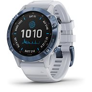 Garmin Fenix 6 Pro Solar, Mineral Blue, Whitestone Band